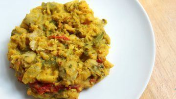 vegan chickpea scramble