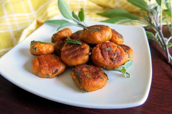 vegan pan-fried pumpkin gnocchi