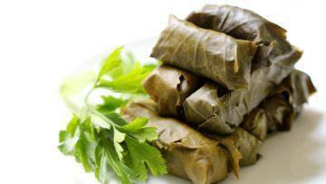 vegan rice stuffed dolmades