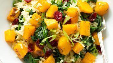 vegan rice with butternut squash