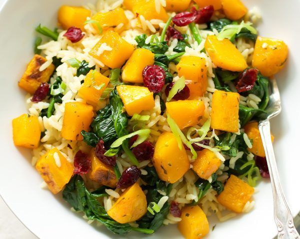 vegan rice with butternut squash