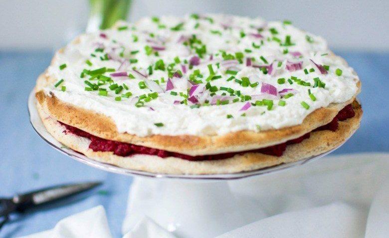 vegan savory cheesecake smörgåstårta