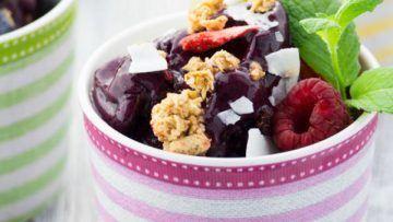 vegan 2 ingredient blueberry ice cream