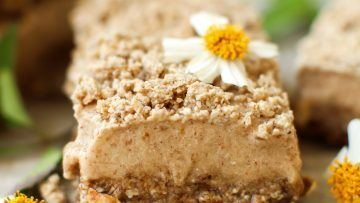 vegan cinnamon streusel ice cream bars