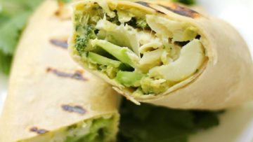 vegan grilled green wraps