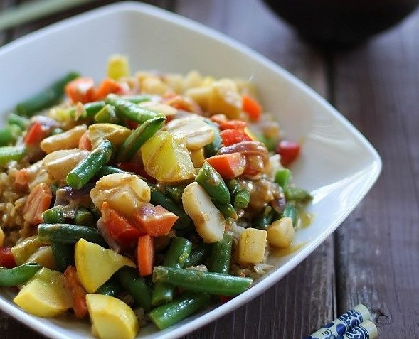 vegan vegetable stir fry