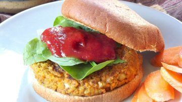vegan walnut carrot burgers