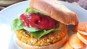 vegan walnut carrot burgers