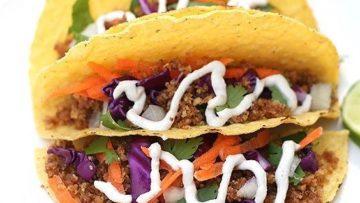 vegan walnut meat tacos