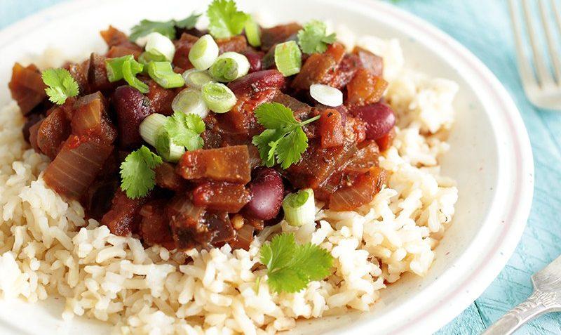 vegan aubergine bean stew
