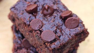 vegan black bean brownie