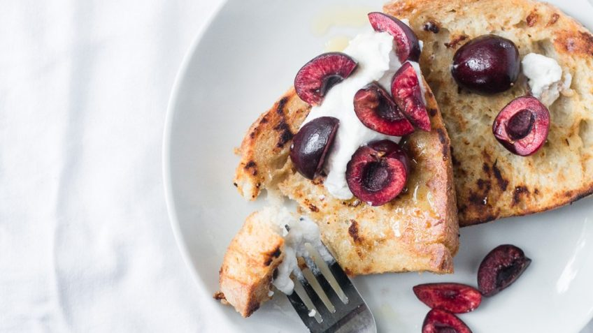 vegan cherry french toast