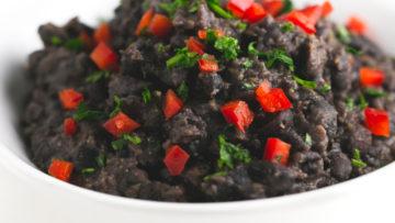 vegan cuban style black beans