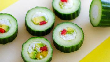 vegan cucumber sushi rolls