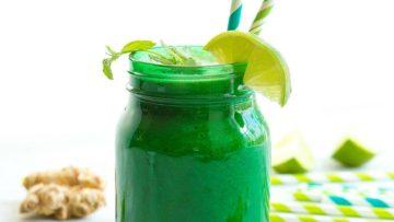 vegan ginger-mint detox smoothie