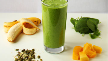 vegan green protein smoothie
