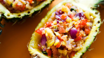vegan grilled pineapple salsa