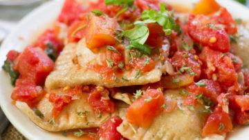 vegan homemade ravioli