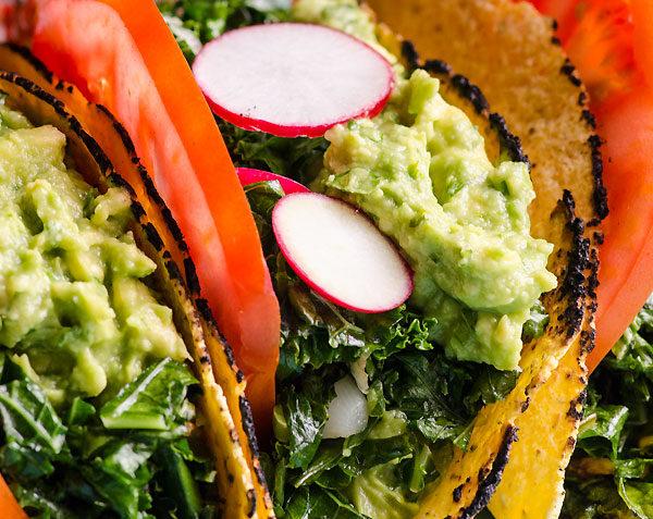 vegan kale tacos