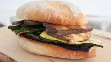 vegan mediterranean veggie sandwich