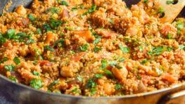 vegan one pot tandoori quinoa