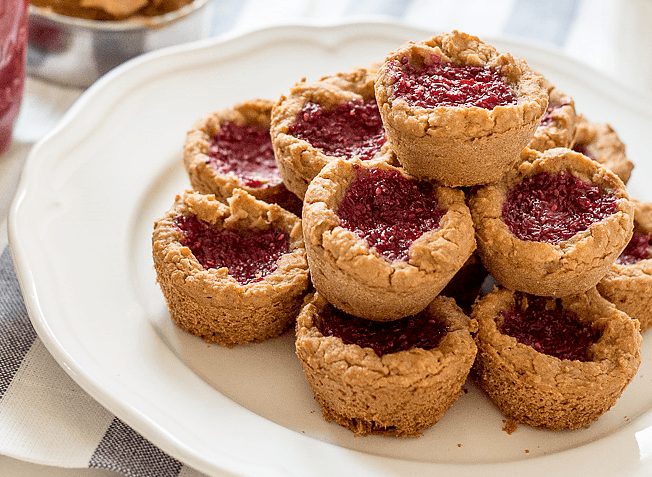 vegan peanut butter and jam cookies