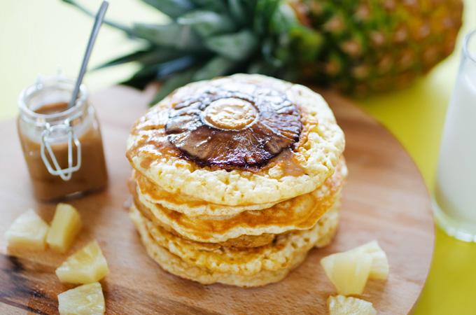 vegan pineapple pancakes