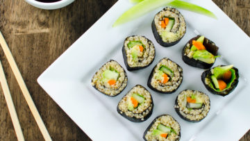 vegan quinoa sushi