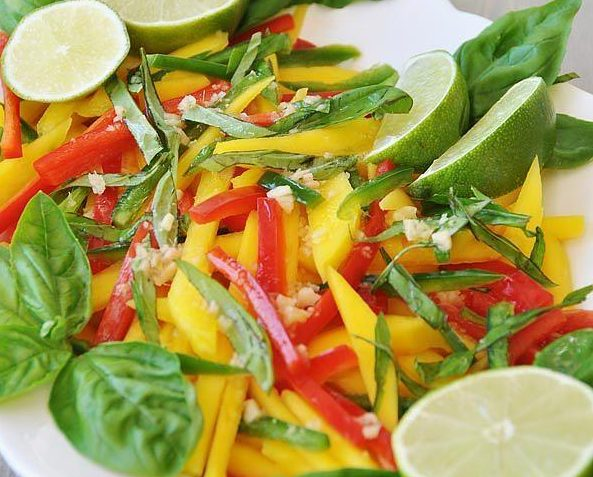 vegan thai mango salad