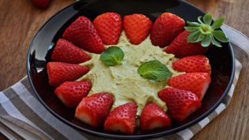 vegan avocado white chocolate mousse