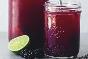 vegan blackberry lime chia fresca