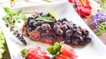 Piece of Blueberry Tart Gluten & Oil Free