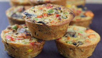 vegan chickpea veggie quiches