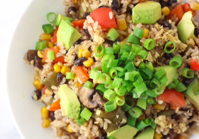 vegan mexican rice casserole