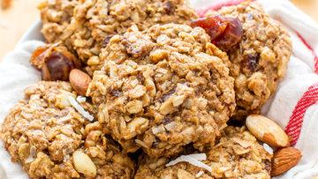 vegan oats breakfast cookies