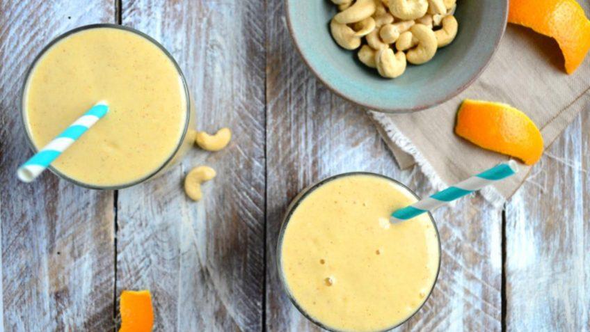vegan orange mango creamsical smoothie