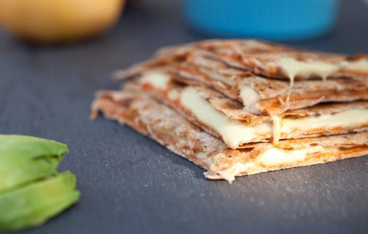 vegan quesadillas with homemade cheese