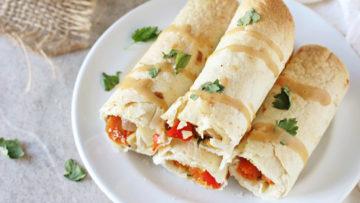 vegan thai vegetable taquitos